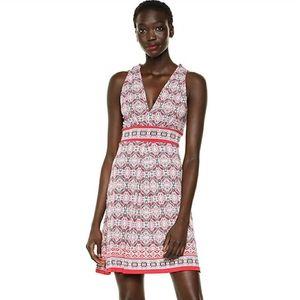 Max Studio Printed Matte Jersey Halter Dress